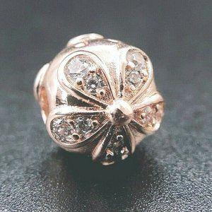 Authentic Pandora Rose Gold Charm Dazzling Daisy